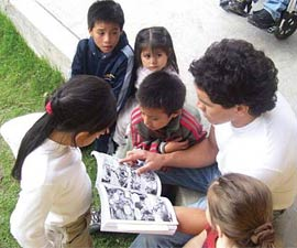 kids reading comic